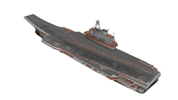 aircraft carrier kuznetsov class 3D model