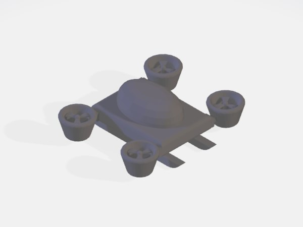 flying car drone 3D model
