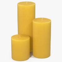 3D model candles 4