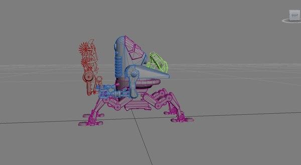 dieselpunk mecha 3D