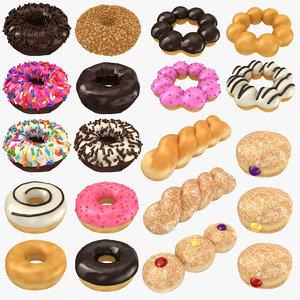 realistic donut 2 3D model