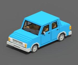 3D voxel sedan car