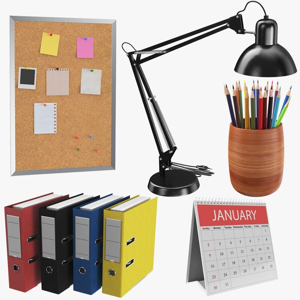 3D model real office supplies