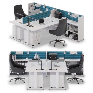 3D model office workspace las