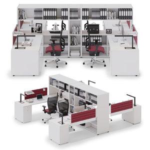 office workspace las 3D model