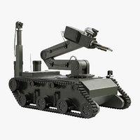 3D sapper robot model