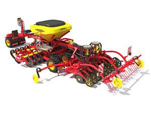 3D vaderstad seed drill model