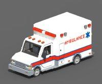 voxel ambulance 3D model
