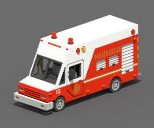 3D voxel rescue van model