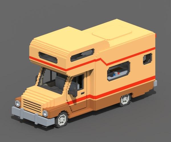 voxel motorhome 3D model