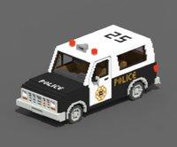 3D voxel police suv model
