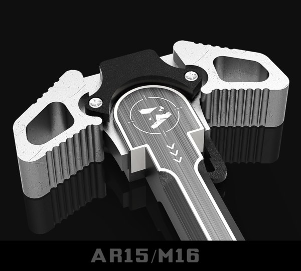 ambidextrous charging handle ar15 3D