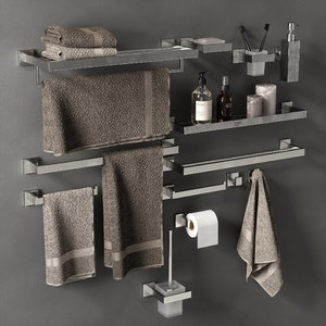 3D bathroom accessories model