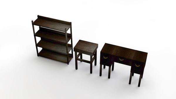 3D model set cabinet