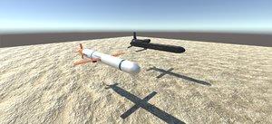 3D model missile pack
