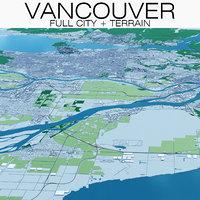 3D vancouver city terrain