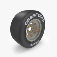 low-poly race car wheel rim 3D