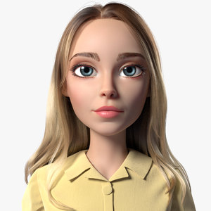 3D cartoon girl woman blake