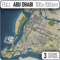 abu dhabi city - 3D model