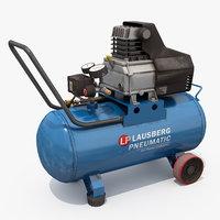 3D air pressure cylinder model