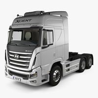 Hyundai Xcient P520 Tractor Truck with HQ interior 2013