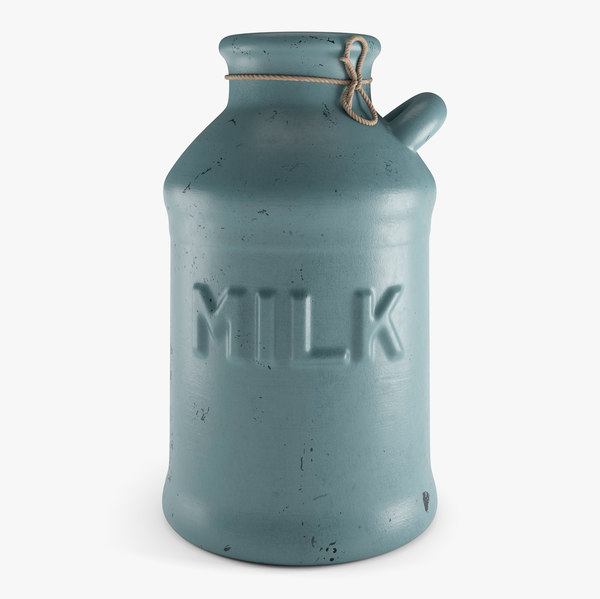 3D old milk jug model