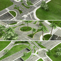 intersection lights 3D model