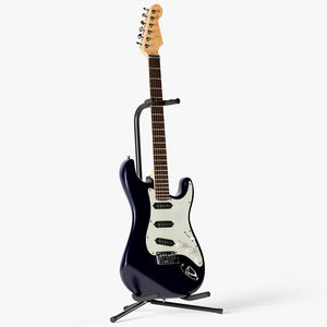 fender stratocaster guitar strings 3D model