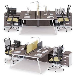 office workspace las 3D