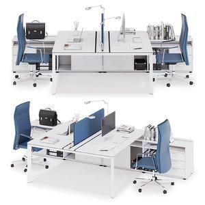 3D office workspace las