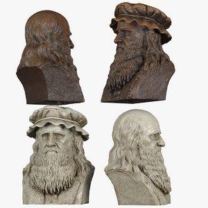 3d decorative bust leonardo da