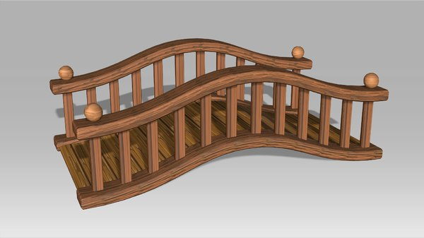 cartoon bridge 3D