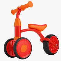 3D kids balance bike model