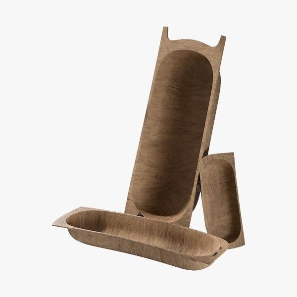 realistic storage antique wooden 3D