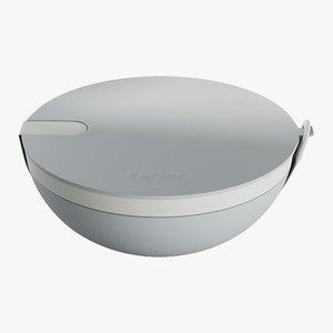 3D realistic bowl porter slate