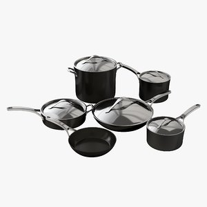 3D realistic cookware anolon nouvel model