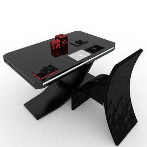 desktop high-tech lamps 3D model