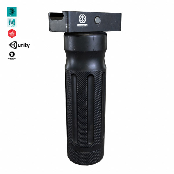 3D vertical foregrip weapon