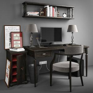set workplace 3D model