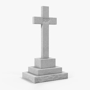 3D granite cross memorial