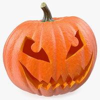 3D halloween pumpkin smiley