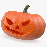 scary halloween pumpkin 3D model