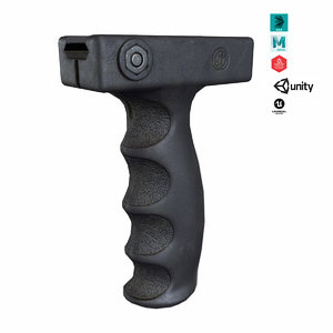 vertical foregrip weapon 3D model