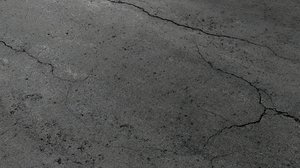 cracked asphalt 3D model