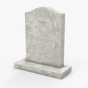 3D marble headstone grave model