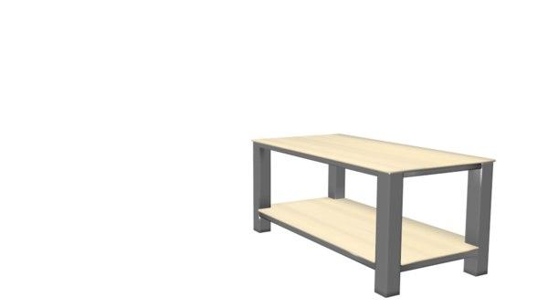 metals wooden table 3D model