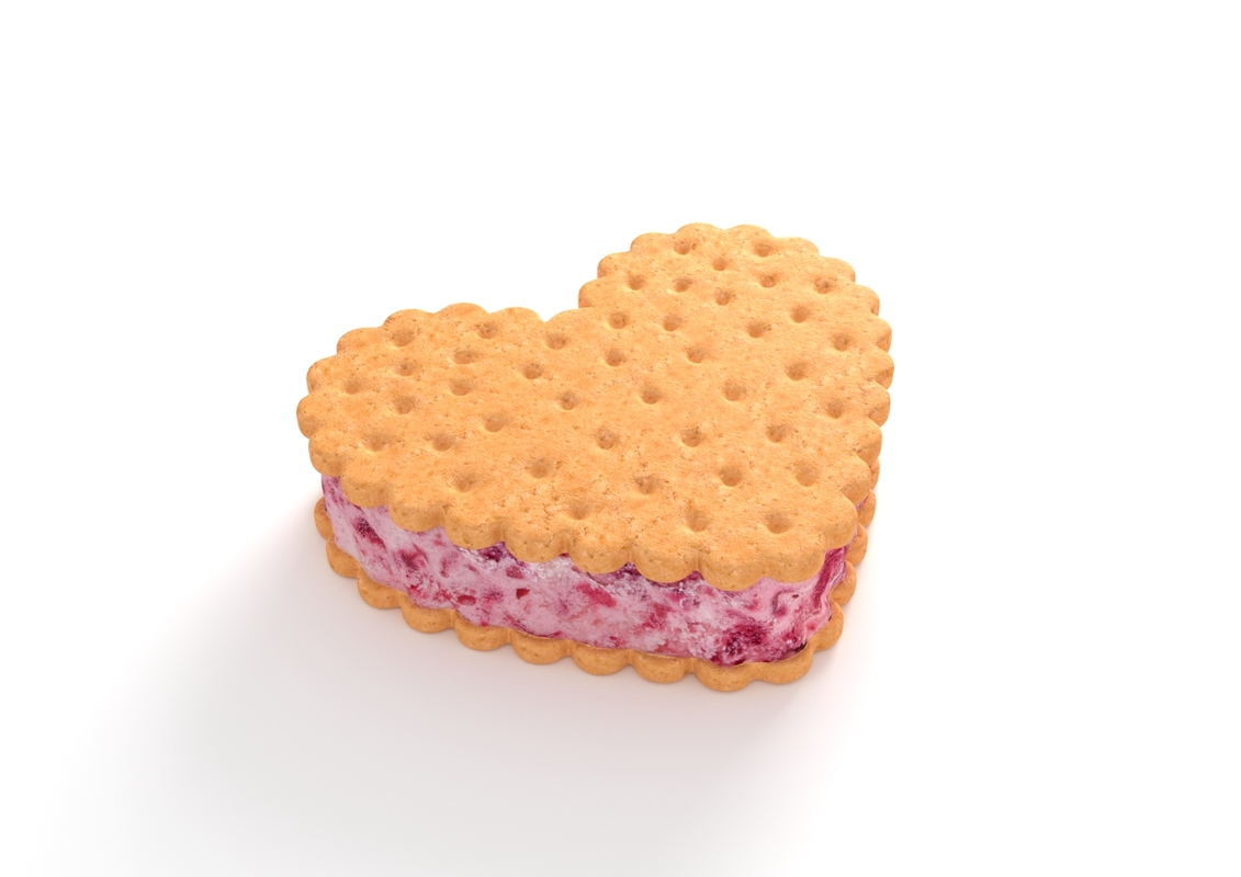 cherry ice cream sandwich 3D model