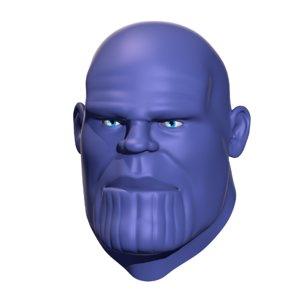 replica thanos mad titan 3D model