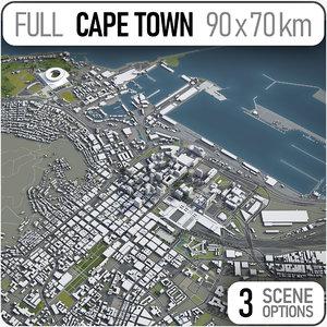 city cape town surrounding model