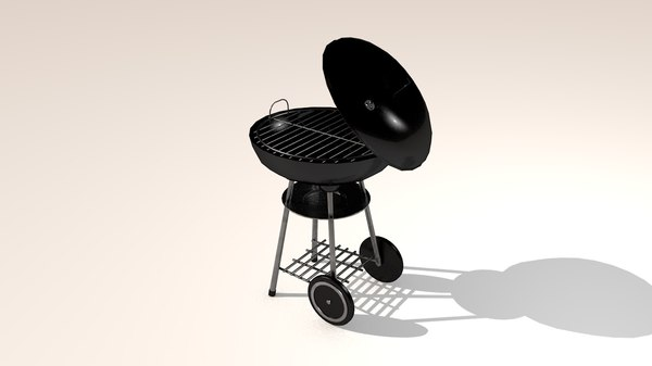 3D charcoal grill